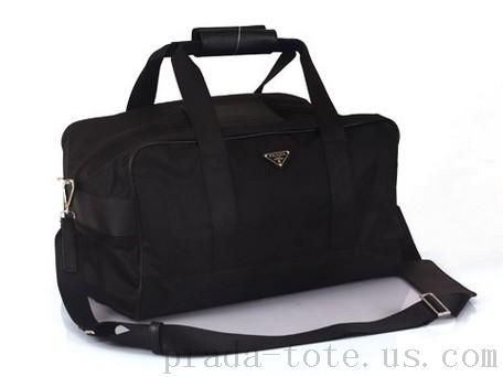 d7ed5aa97c Authentic  Prada VS001S Travel Bags in Black Outlet store