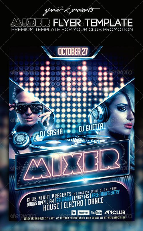 Template Free Club Party Psd Flyer Templates Free Premium Psd