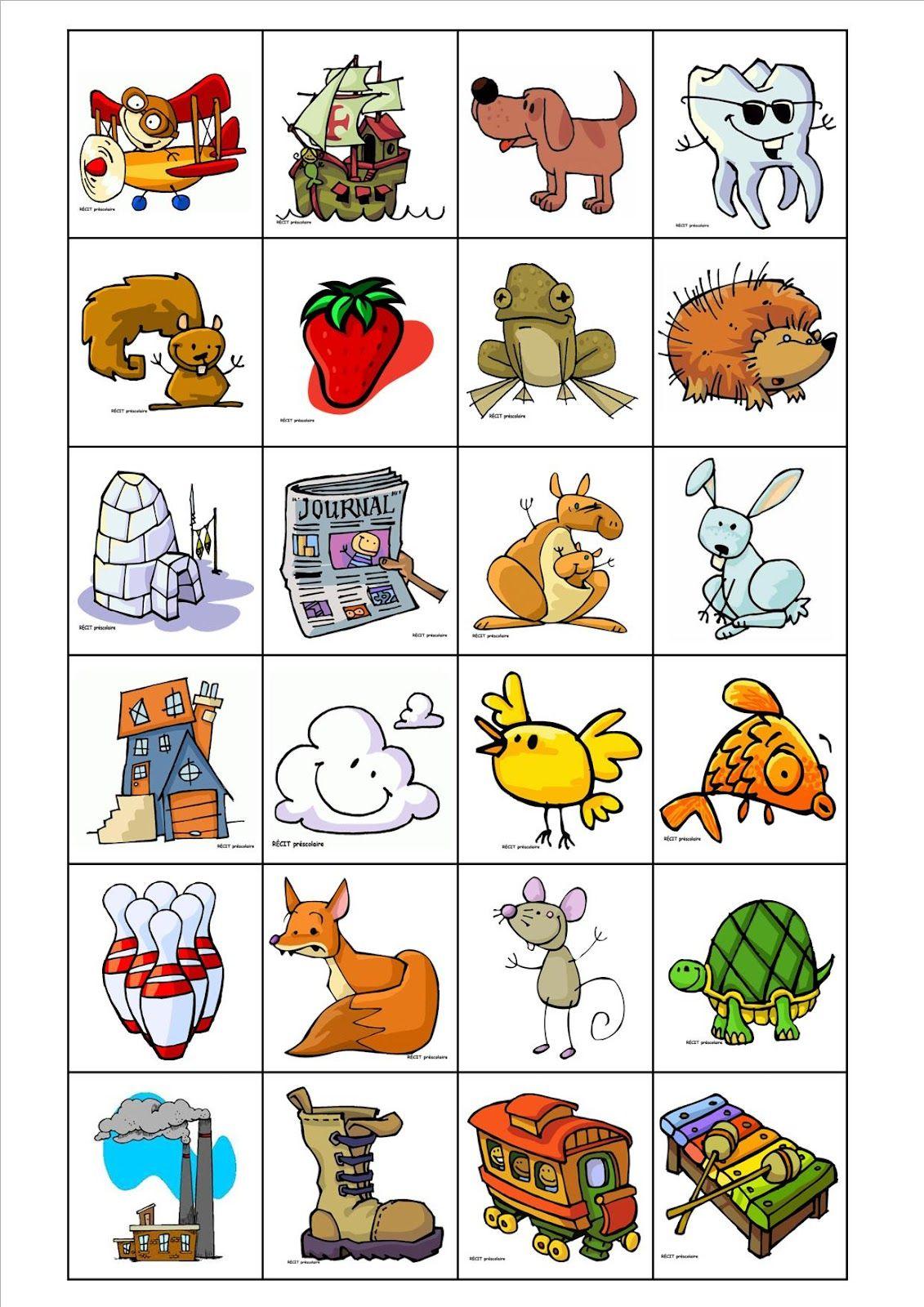 Voici un loto de phonologie il faut imprimer les planches et les images les couper et les - Mot commencant par pr ...