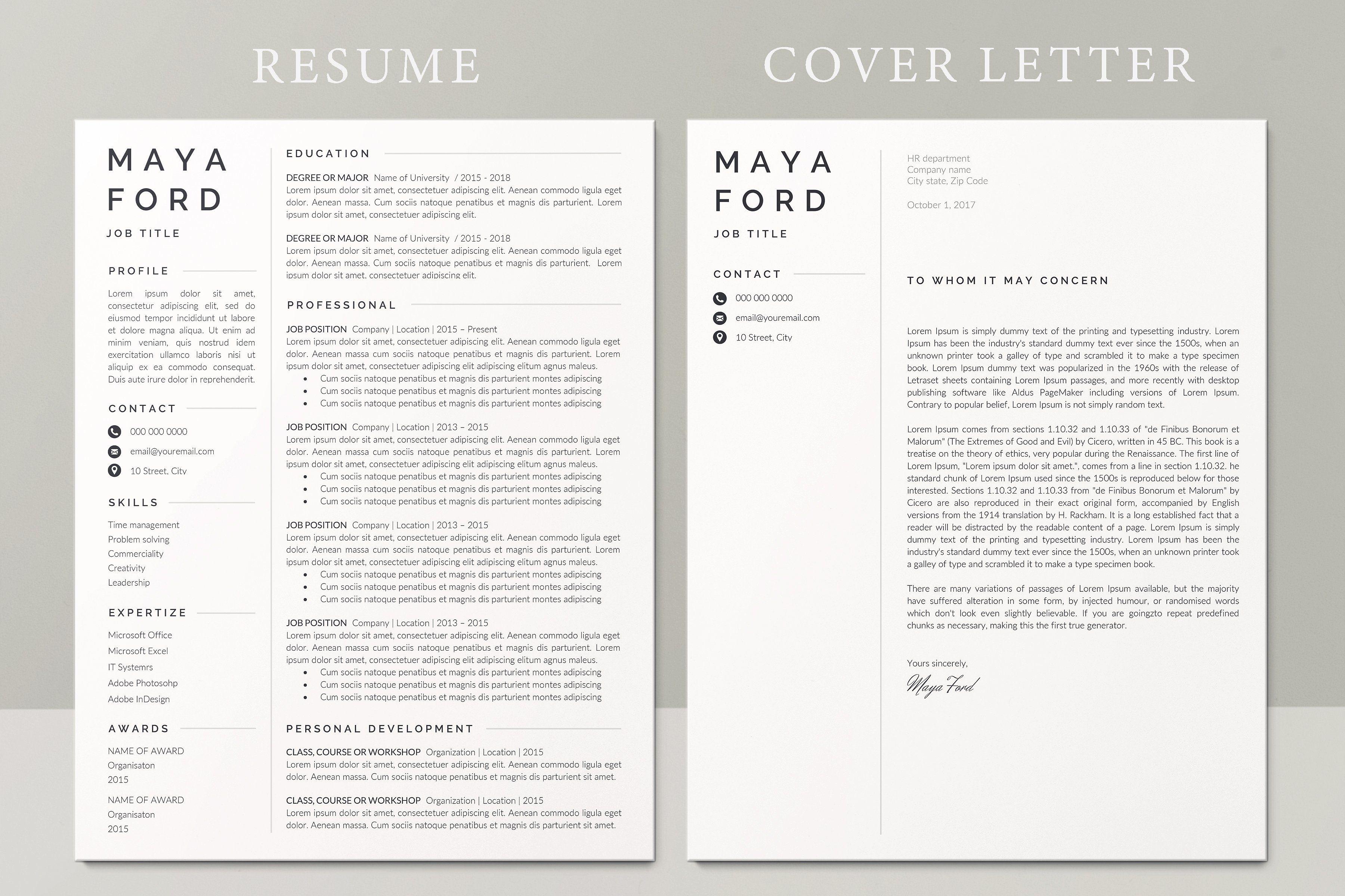 Resume Template / CV(画像あり)