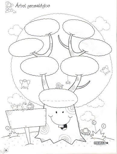 Rbol Geneal Gico School Pinterest Tareas Familias Of Arbol ...