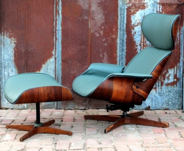 Sessel farbig  designer sessel Charles Eames Lounge Chair farbig türkis ...
