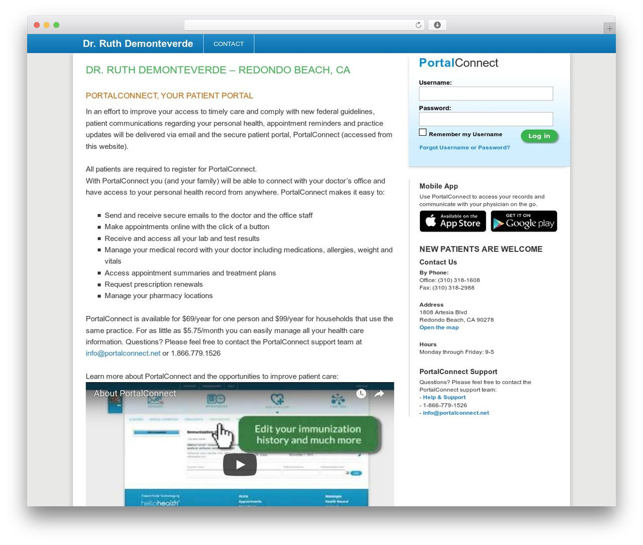 Patient Portal theme WordPress