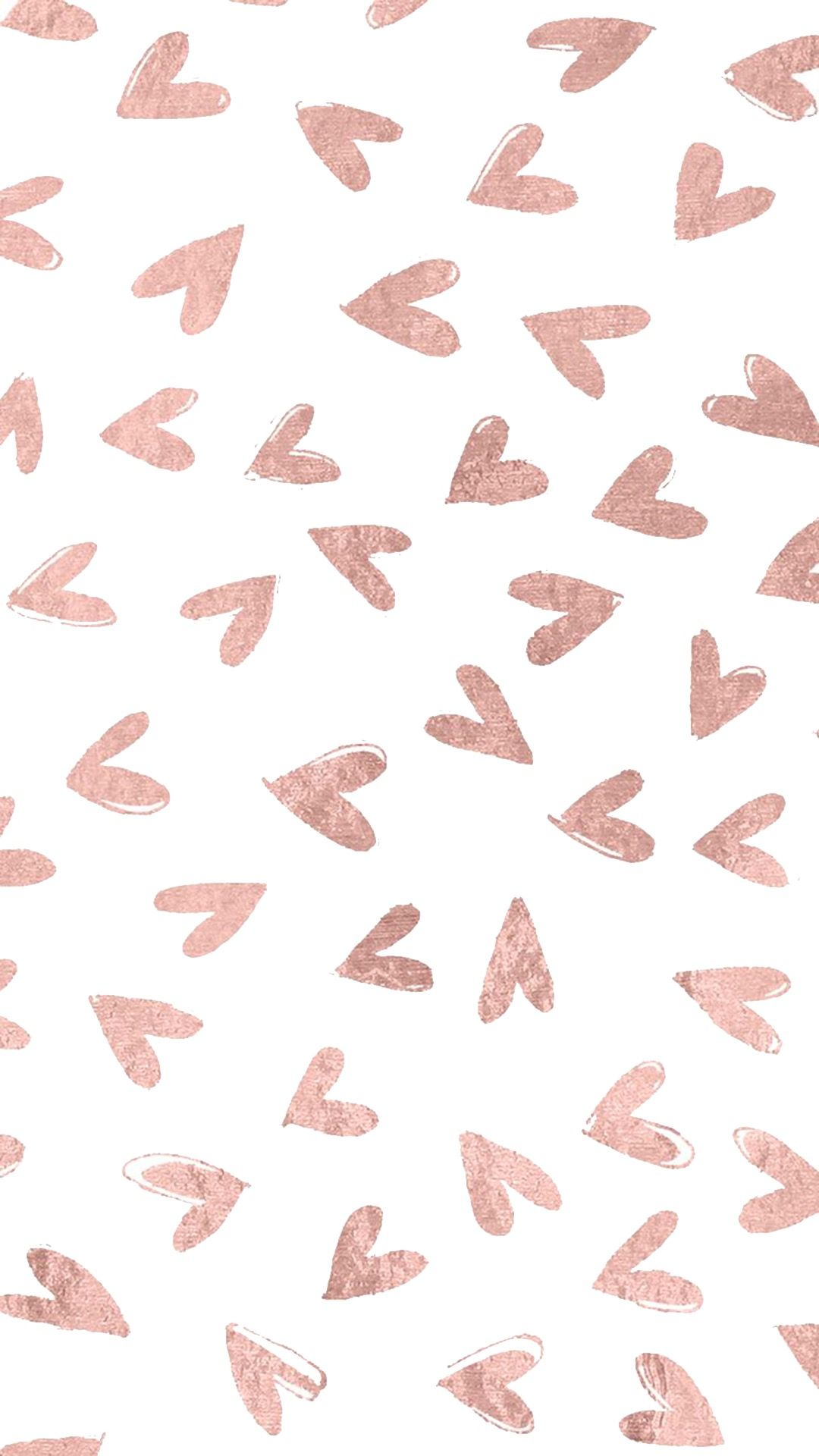 Rose Gold Hearts In 2019 Rose Gold Wallpaper Gold