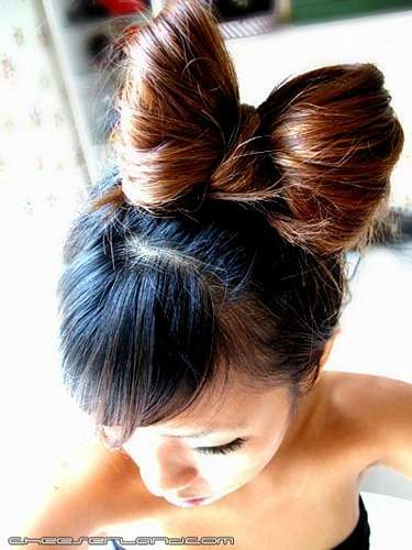 Natural Hello Kitty Hair Bow