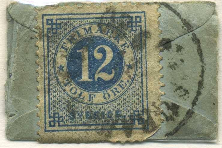 Sweden 12ö on letter 1880. Swedens smallest letter?