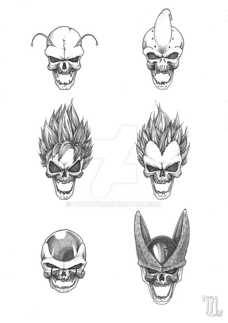 Dragon Ball Skulls Dragon Ball Art Dragon Ball Super Manga Dragon Ball Tattoo