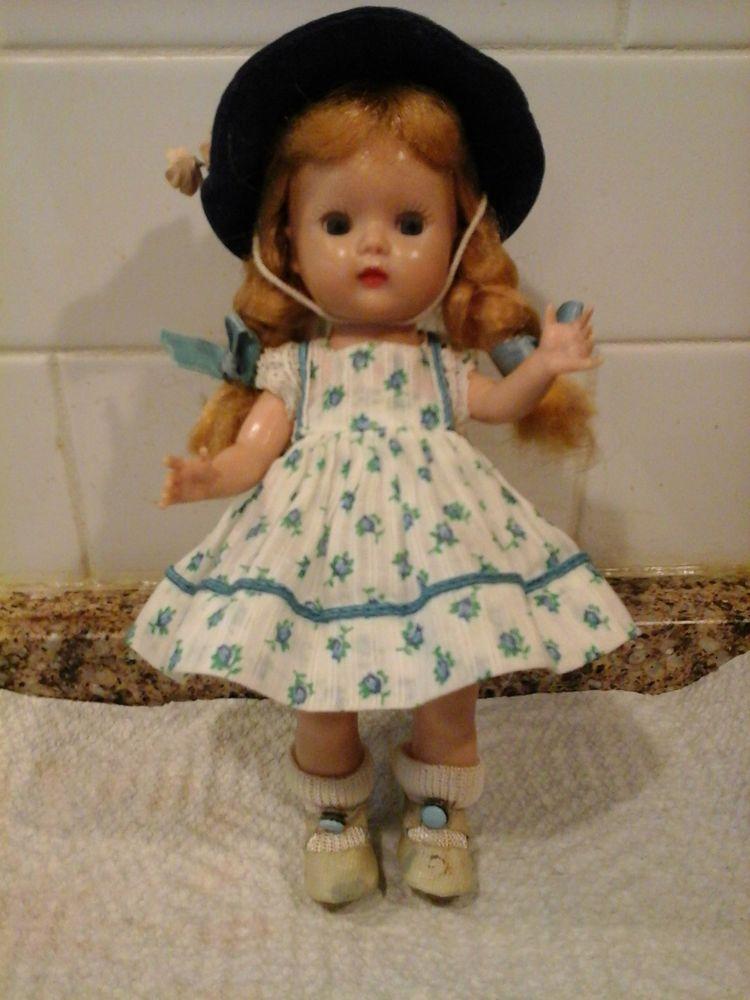 1950's Vintage Nancy Ann StoryBook 1953 Muffie Kissable Outfit on a 1954 Muffie #StoryBookNancyAnn #Dollshardplastic