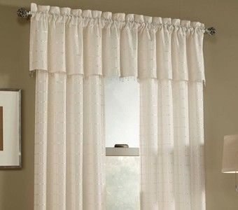 Renee Lined Box Plaid Sheer Panel Curtains Voile Curtains Panel Curtains