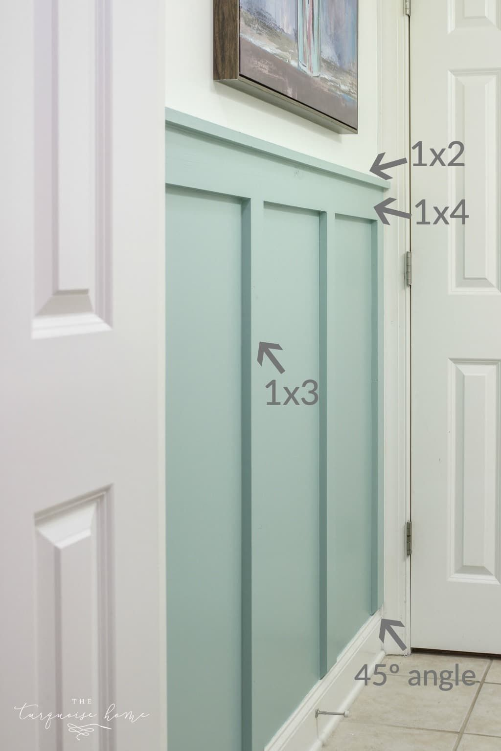 Diy Board And Batten In The Girls Bathroom The Turquoise Home Home Remodeling Home Projects Home Diy