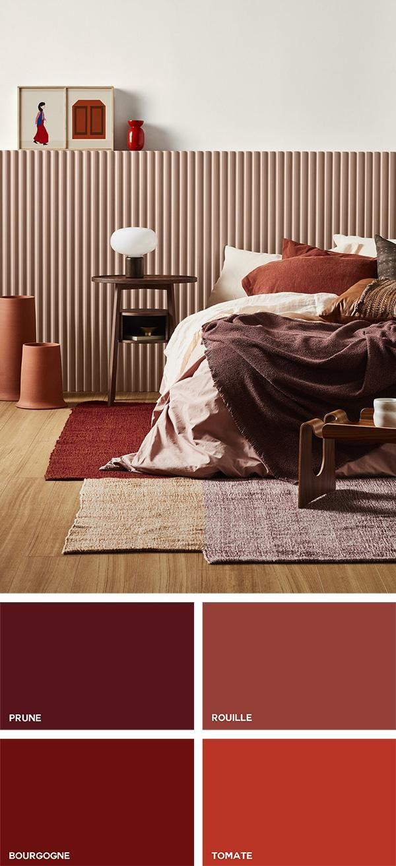 Couleurs Et Teintes En Decoration En 2020 Deco Chambre Rouge
