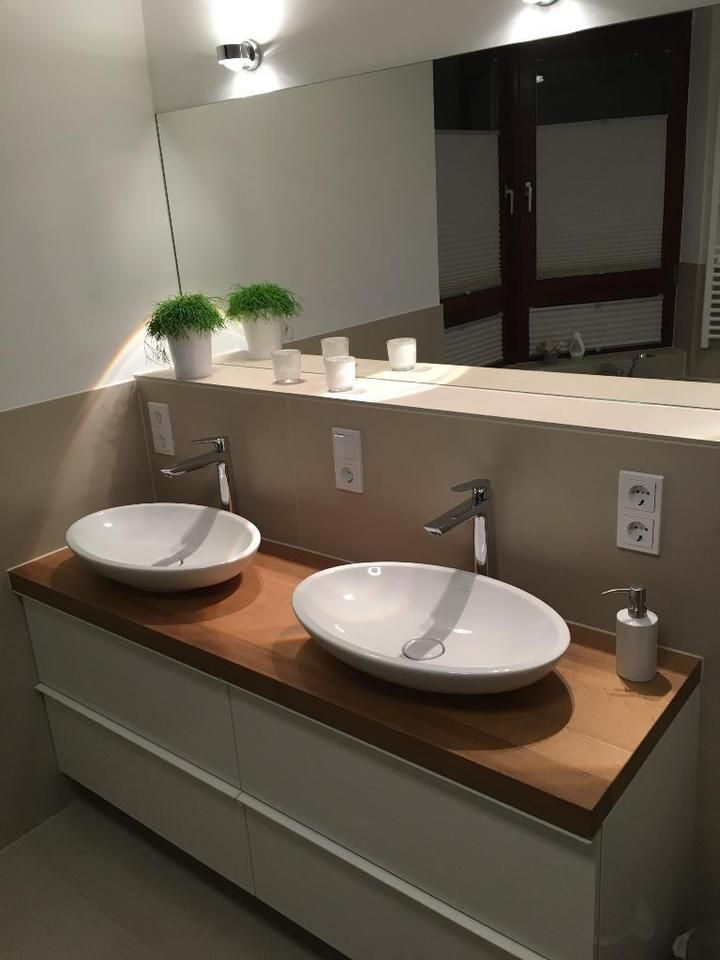Waschtischplatte Konsole Regal Fensterbank Waldkante Holz