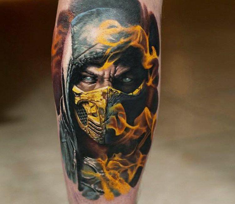 Mortal Kombat Tattoo By Denis Sivak Mortal Kombat Tattoo