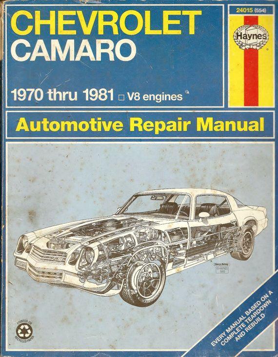vintage chevrolet camaro hayne s automobile repair manual 1970 rh pinterest co uk Car GPS Receiver Product Manuals Book Time Auto