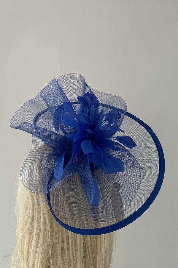 Women/'s Royal Blue Hatinator Fascinator Mother Of The Bride//Groom Weddings Races