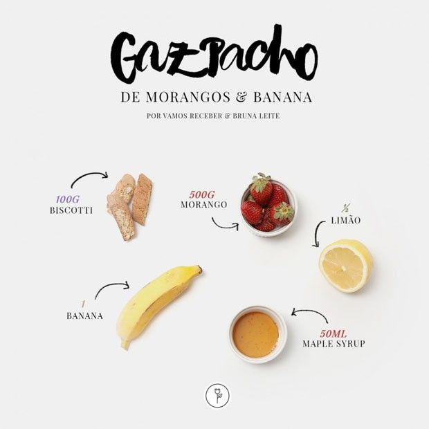 Photo of Gaspacho com morangos e bananas