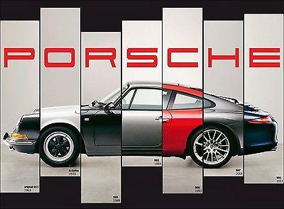 PORSCHE 911 EVOLUTION CAR ART POSTER PRINT 18