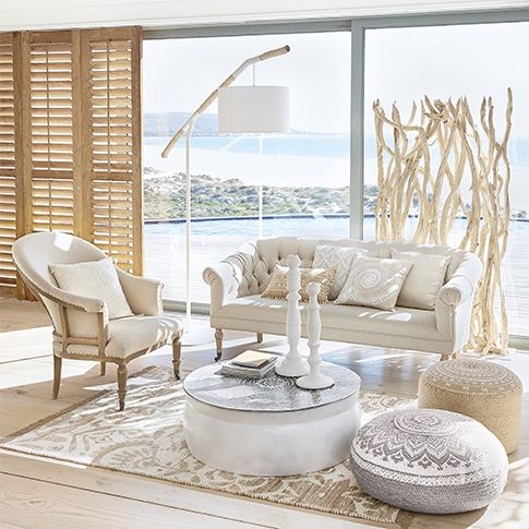 styl de a zen ambiance boh me chic en bord de mer d co int rieur style boh me boho chic. Black Bedroom Furniture Sets. Home Design Ideas