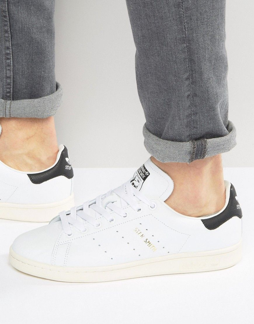 b414a3aeda02 ADIDAS ORIGINALS STAN SMITH SNEAKERS IN WHITE S75076 - WHITE.   adidasoriginals  shoes