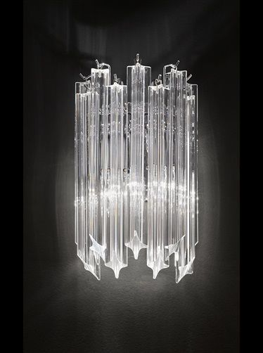 Franklite valentina chrome finish wall light with crystals