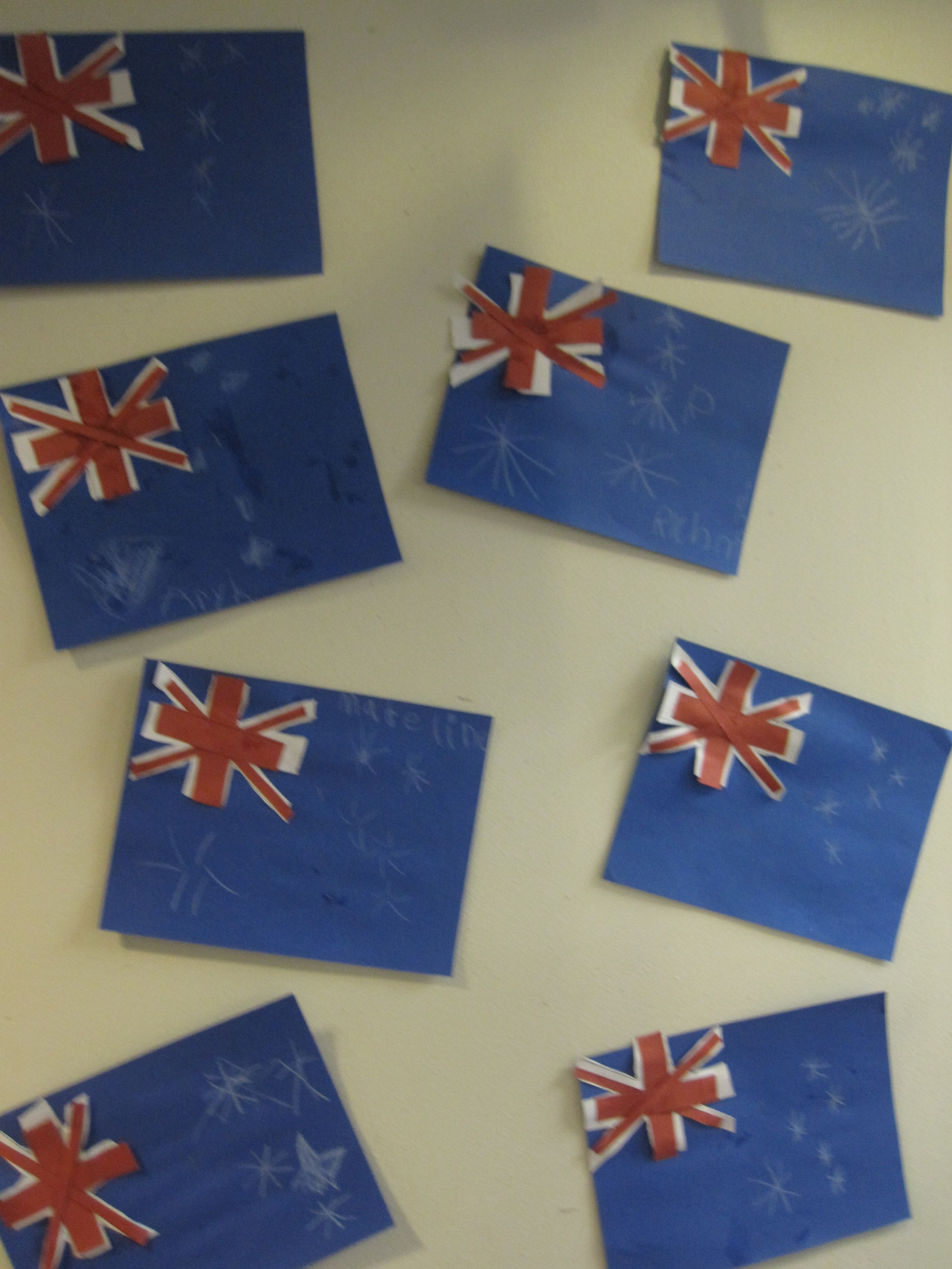 Australia flag craft crafts for kids pinterest for Australia day decoration ideas