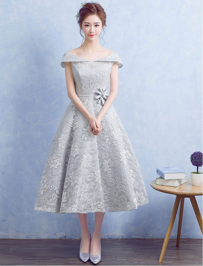 1950s Vintage Inspired Off Shoulder Floral Lace Dress