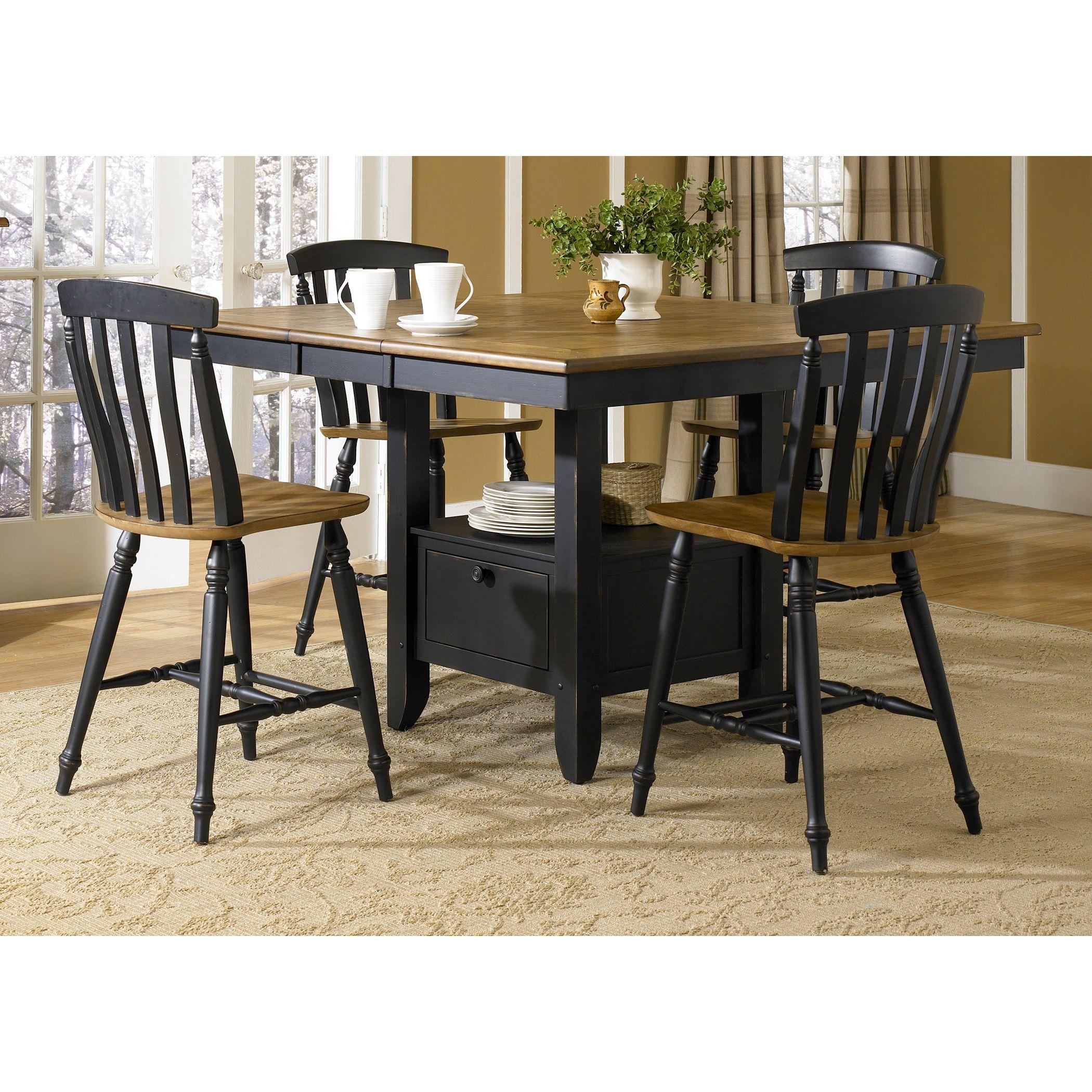 Liberty Al Fresco II Casual Gathering Table (Black U0026 Driftwood Gathering  Table)