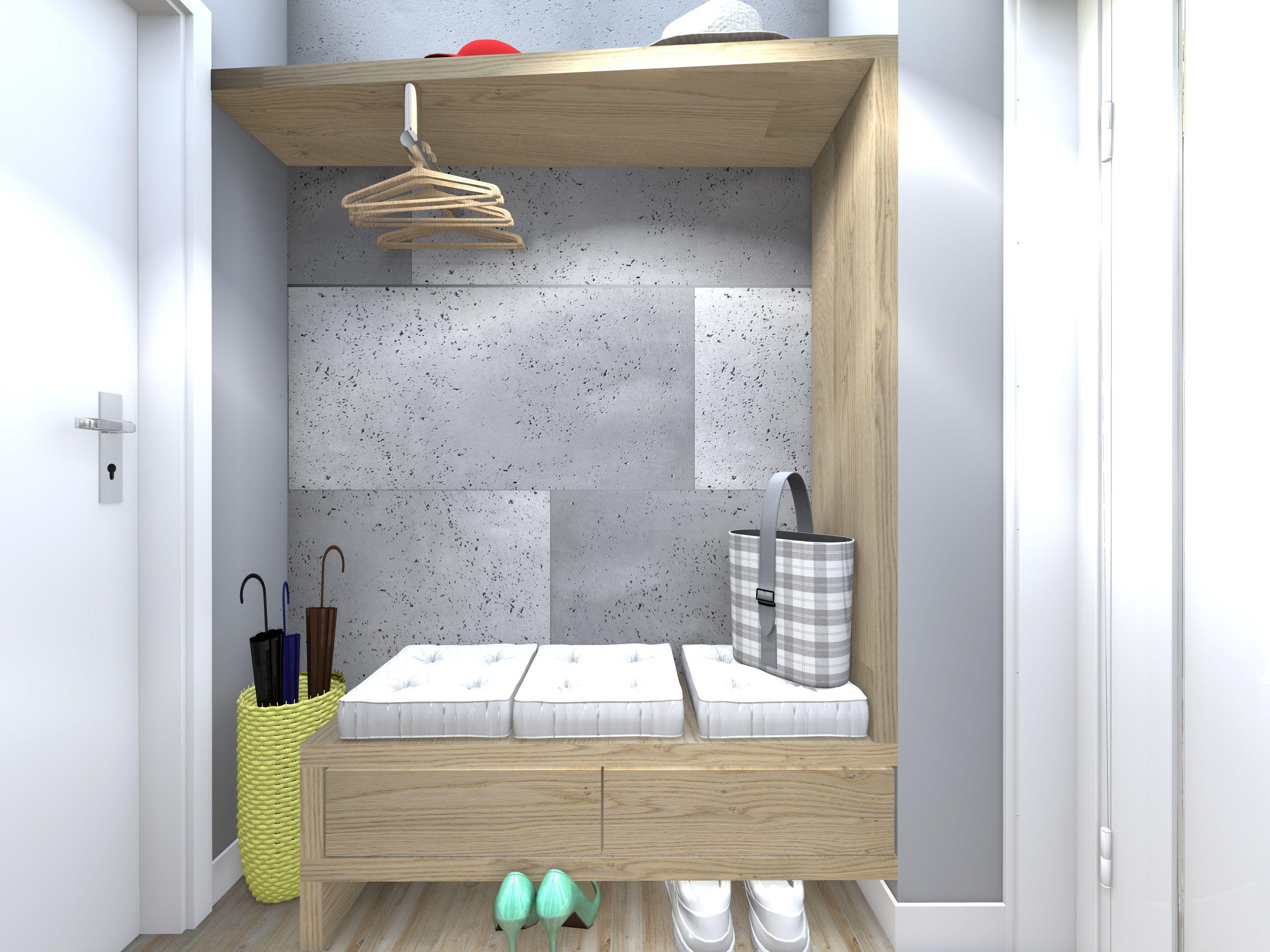 Projekt I Aranżacja Małego Przedpokoju W Mieszkaniu W Bloku