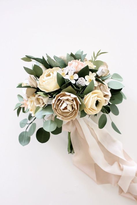 Customized Bridal Bouquet — Handmade by Sara Kim #paperflowerswedding