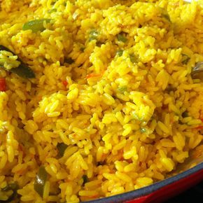 Spanish yellow rice with saffron...