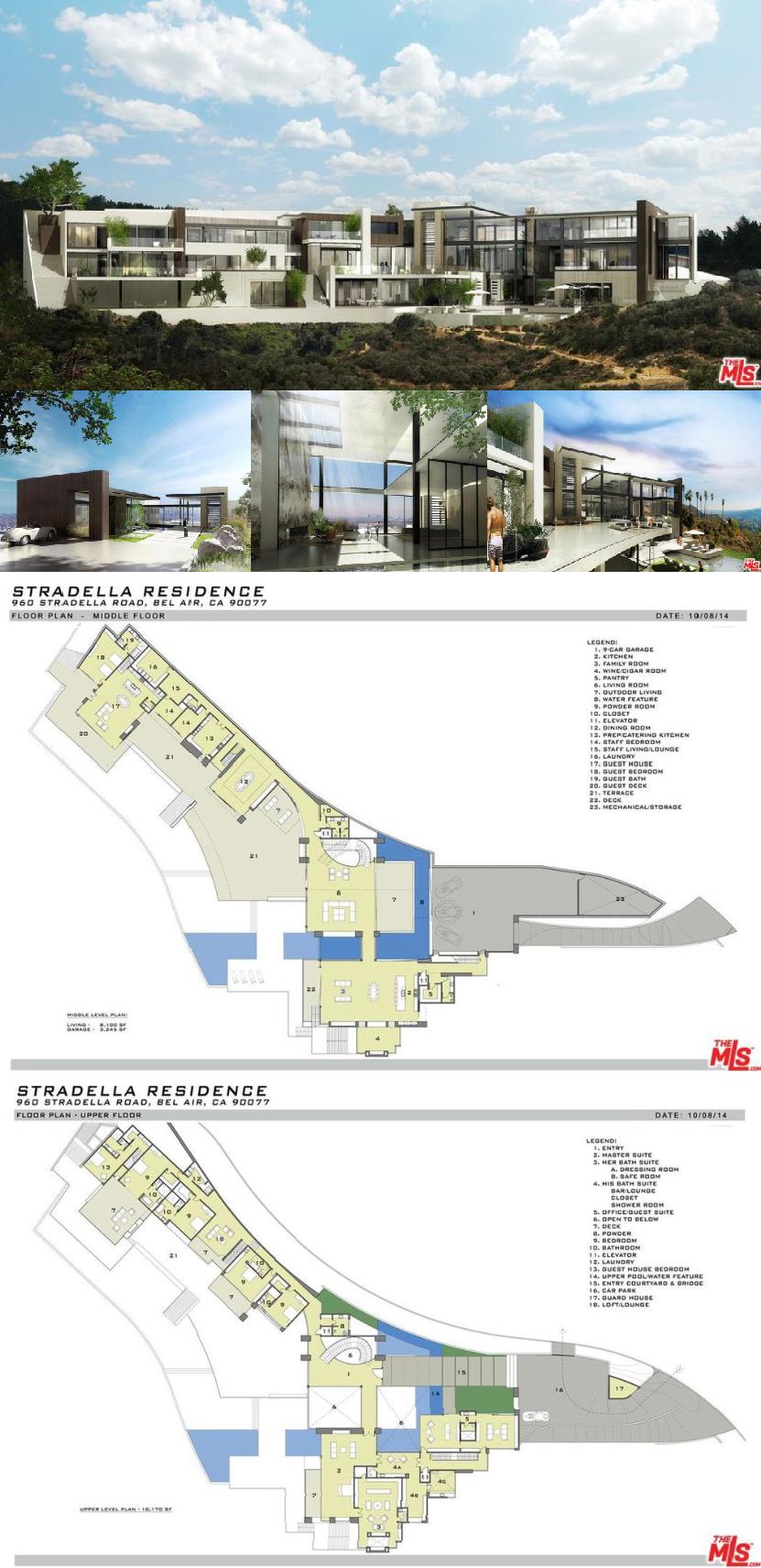 Proposed modern mega mansion in los angeles 31000 sqft
