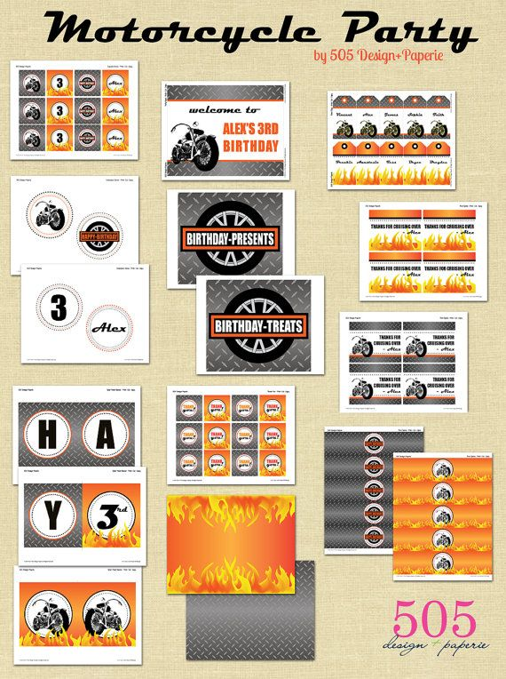 Harley Davidson Invitations Free Printables Best Custom