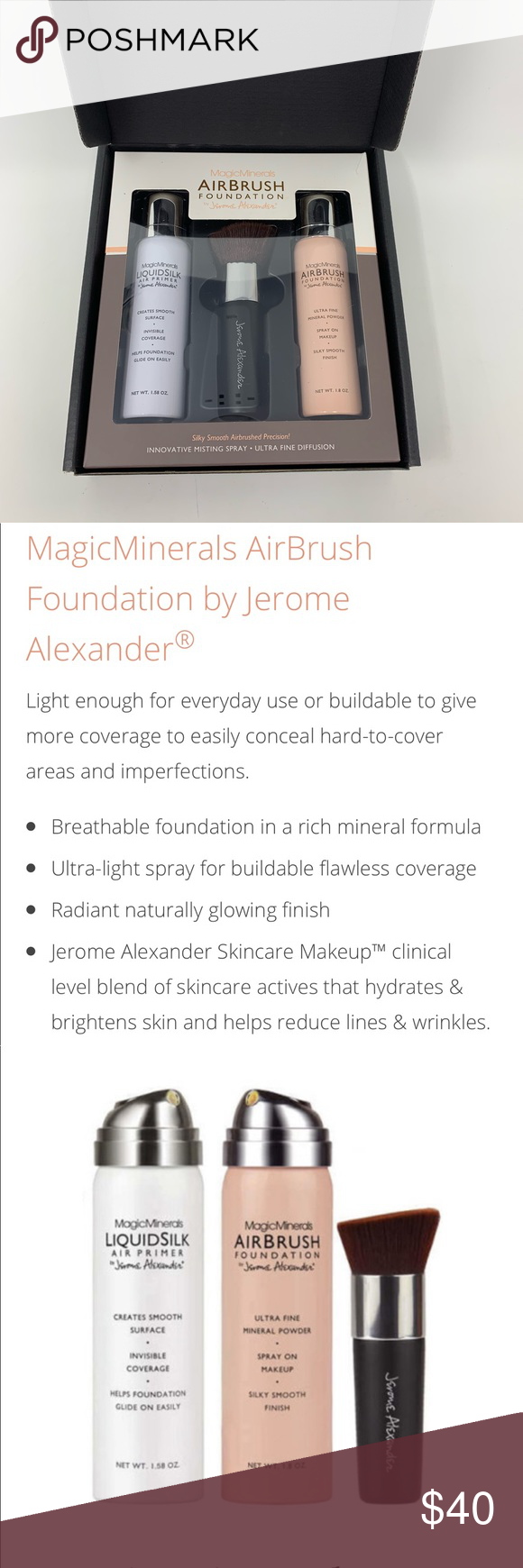Airbrush Foundation by Jerome Alexander! New release by