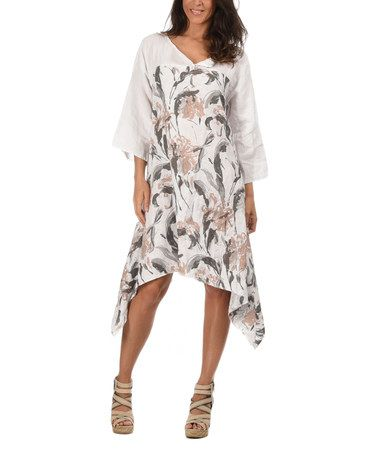 This White Sheryl Linen Dress by Couleur Lin is perfect ...