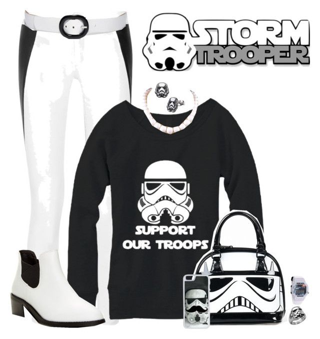 """Support the Stormtroopers"" by kathleensmith-i ❤ liked on Polyvore featuring rag & bone, Shellys, Michael Kors, CellPowerCases and starwars"
