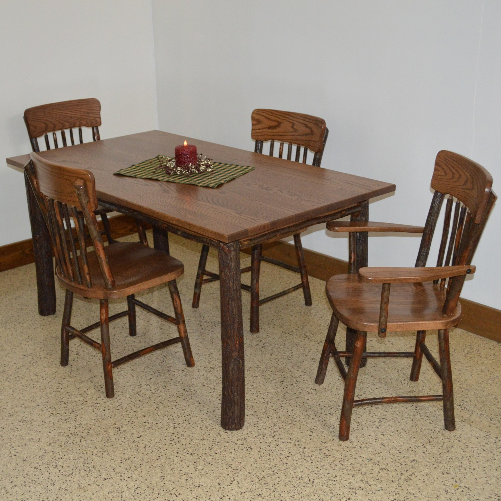 Outdoor A & L Furniture Hickory 5 Piece Patio Dining Set