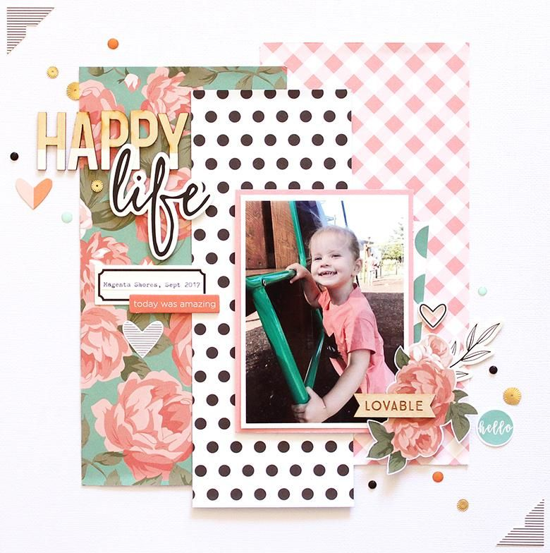 Happy Life Layout + Process Video | Mandy Melville