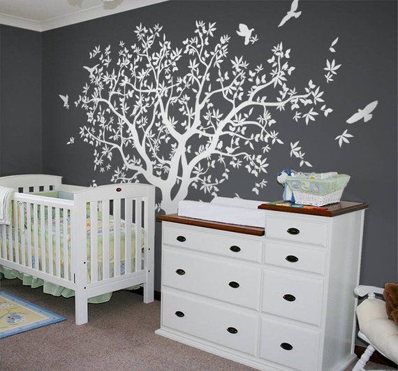 large tree wall decal white tree wall decal wall mural stickers wall