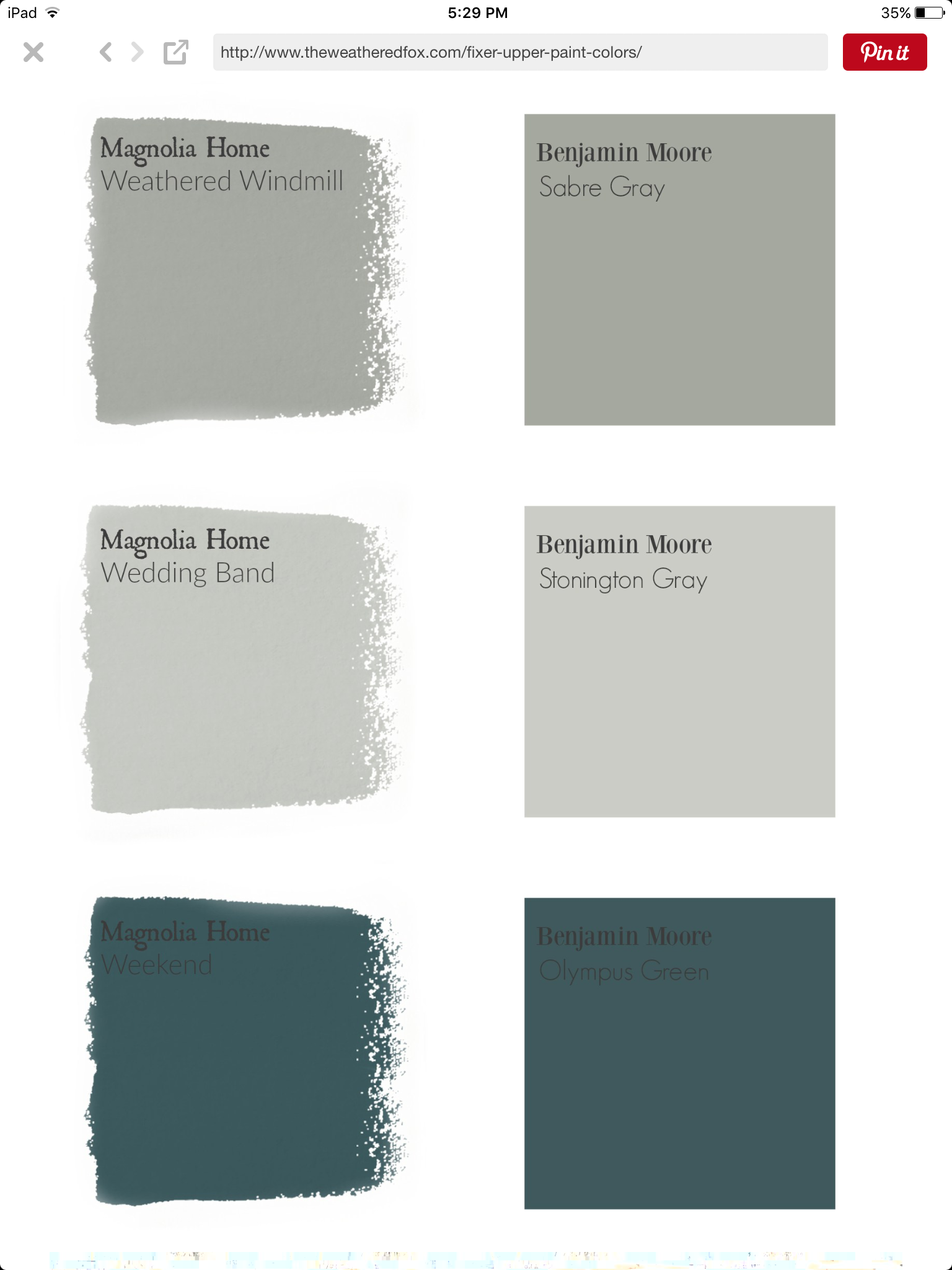 pin by teresa mckee on paint fixer upper paint magnolia on benjamin moore color chart visualizer id=47701