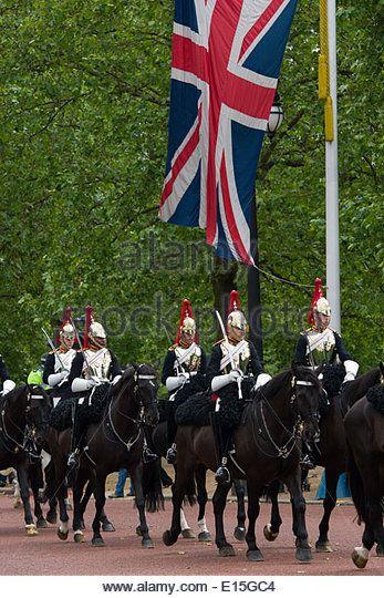 I membri della Household Cavalry, Blues e Royals (Royal Horse Guards e 1 ° Dragoni)