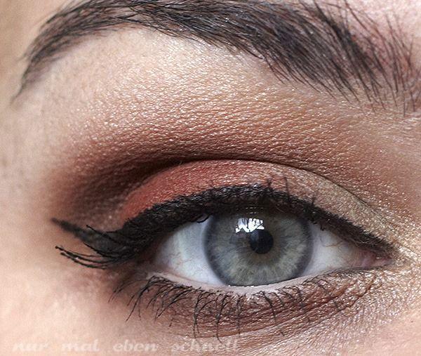 "NYX HD eye shadow base Catrice made to stay longlasting eyeshadow ""060 Jennifer's Goldrush"" Sleek Ultra Mattes V2 Palette ""Dune"", ""Pillow Talk"" und ""Paper Bag"" NYX ""Extreme Apricot"" p2 perfect look kajal schwarz Maxfactor khol kajal ""090 natural glaze"" Manhattan eyemazing liner benefit they're real Mascara"