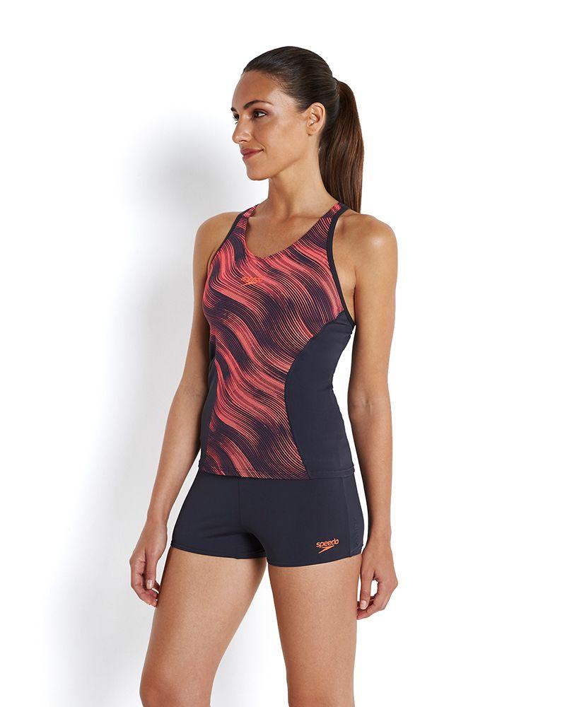 d4a94513ab Speedo Fit Allover Splice Tankini - New Swimwear and Equipment ...