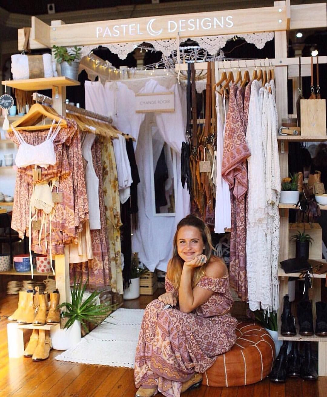 How Gorgeous Is This Stall By Shoppasteldesigns At Finders Keepers In Brisbane Clothing Booth Display Booth Display Clothing Displays