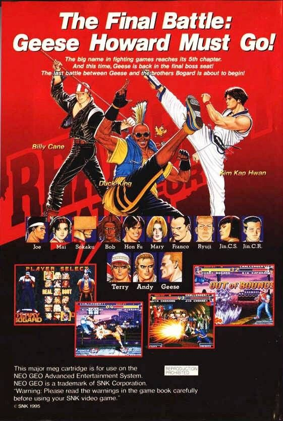 Fatal Fury Real Bout Snk Video Game Posters Fighting Games Classic Video Games