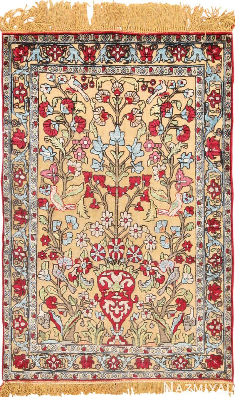 Antique Silk Persian Souf Kashan Rug 49615 Nazmiyal Rugs Kashan Rug Antique Persian Rug Rugs