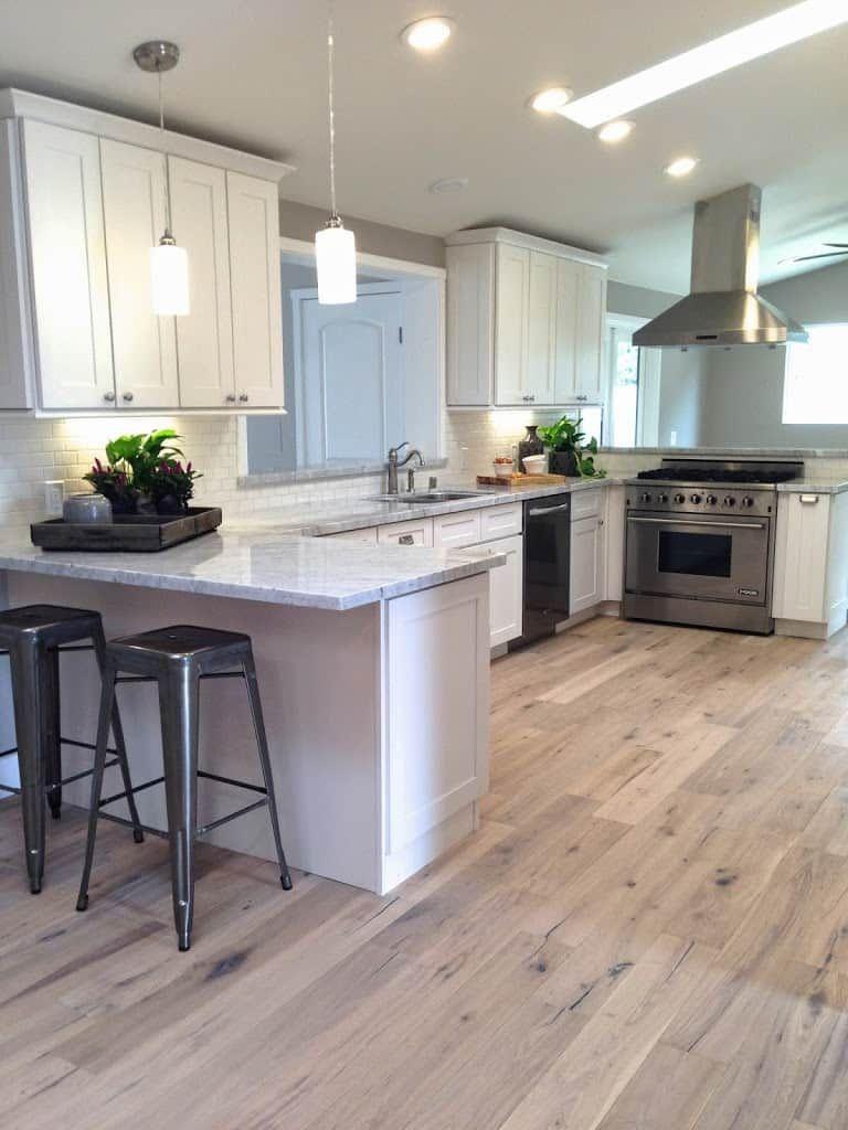 White Oak Hardwood Flooring Transitional House Home Decor