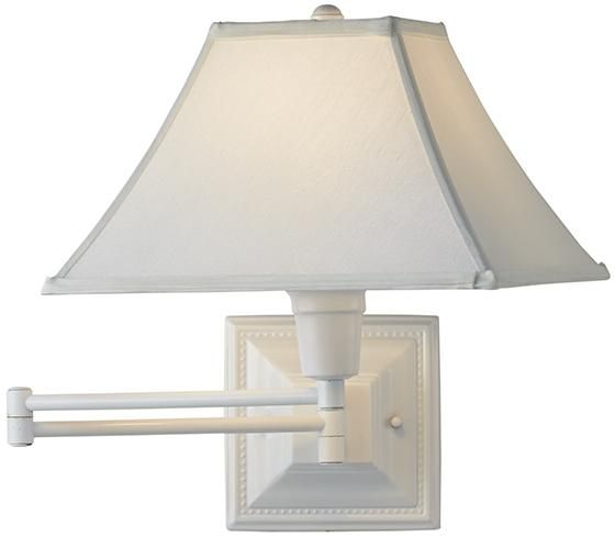 White Kingston Swing Arm Lamp Client Nichols Cueto Living Room
