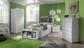 Dormitorio Para Ninos Color Verde Dormitorios Colores Y Estilos Teenage Girl Bedrooms Bedroom Green Green Bedroom Design
