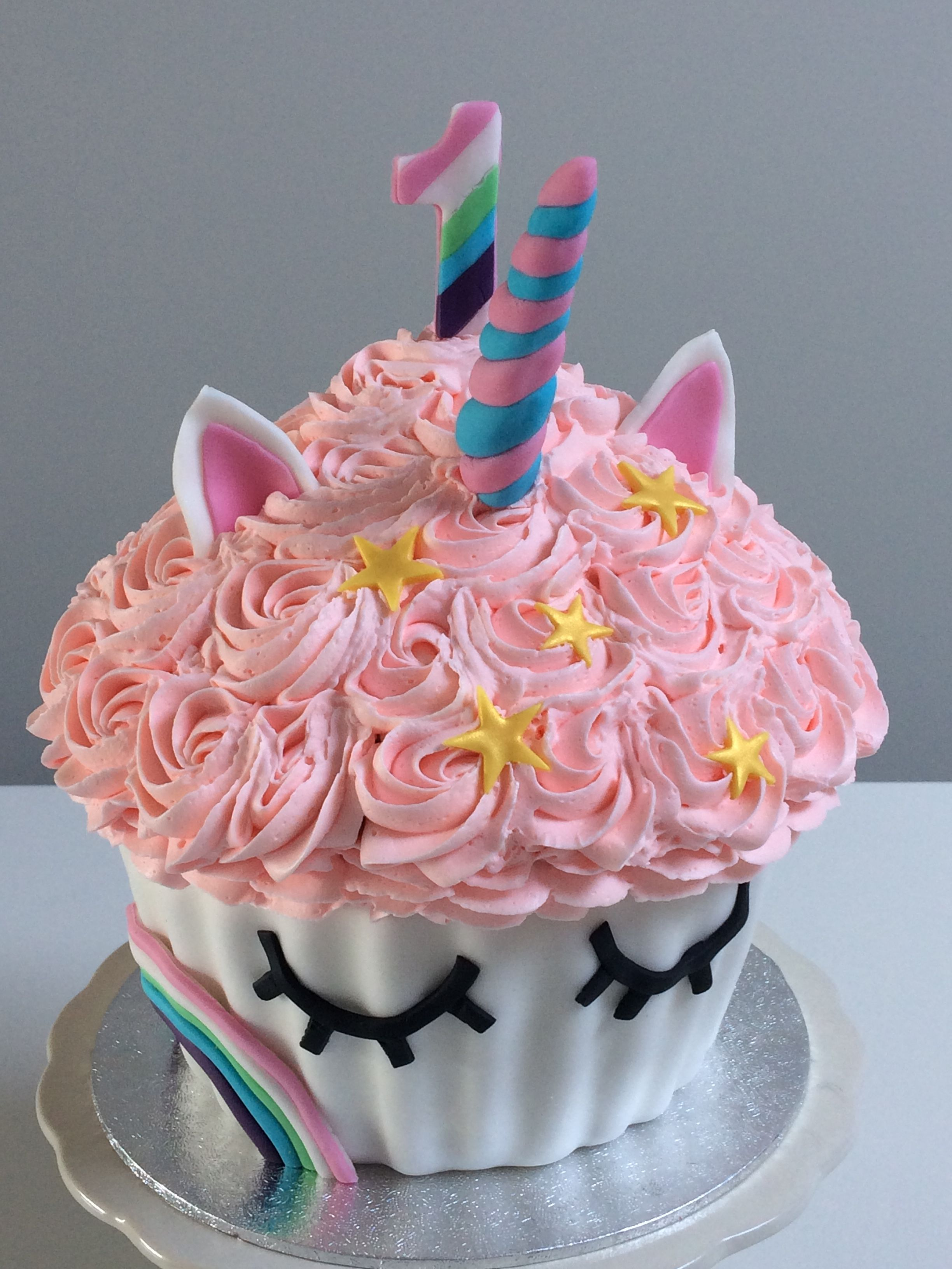 Unicorn giant cupcake Adorkable Cakes cupcakes and cookies