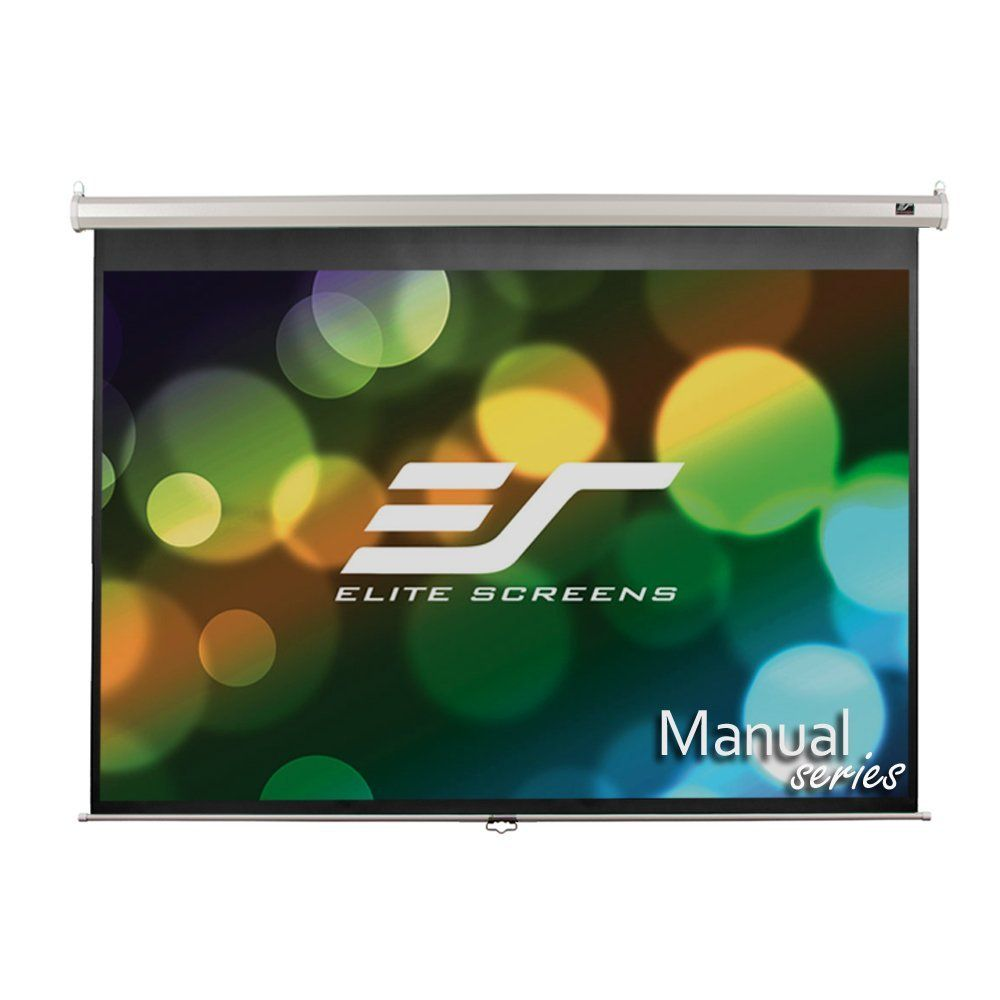 Elite Screens Manual 120 Inch 4 3 Pull Down Projection Manual Projector Screen With Auto Lock Projection Screen Projector Screen Pull Down Projector Screen
